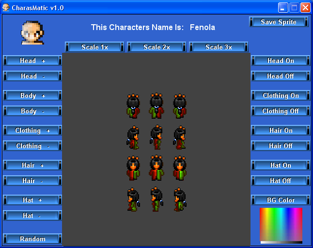 Charasmatic Is A Random Sprite Generator And Customizer It Is Very Easy To Use And There Are